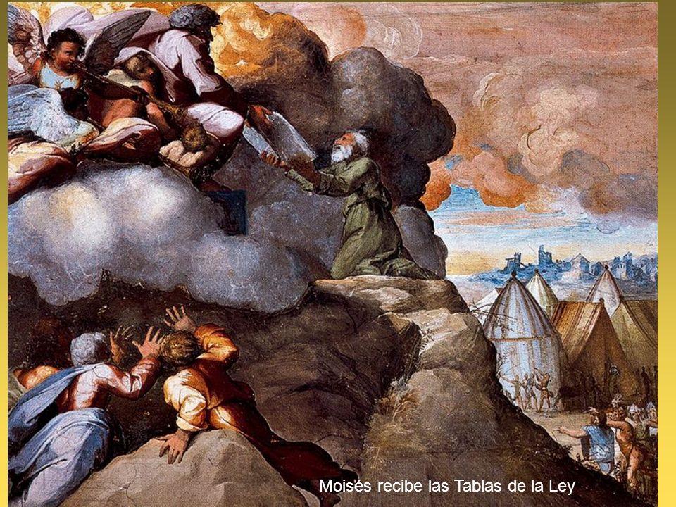 Moisés recibe las Tablas de la Ley