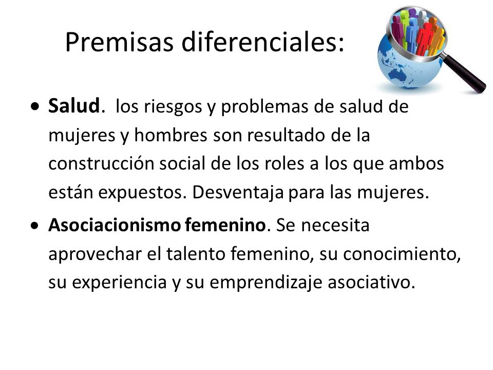 Premisas diferenciales: Salud.