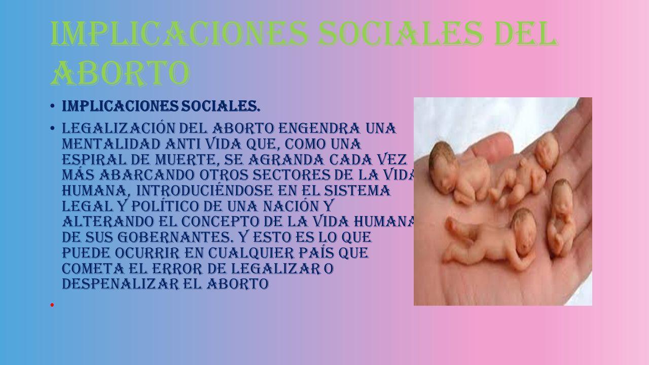 Implicaciones legales del aborto Implicaciones legales. De acuerdo al código penal para el DF en materia del fuero común y para la república mexicana