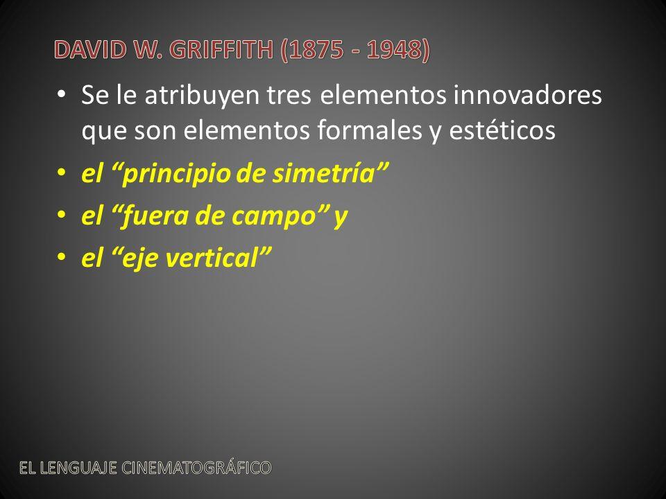 Se le atribuyen tres elementos innovadores que son elementos formales y estéticos el principio de simetría el fuera de campo y el eje vertical