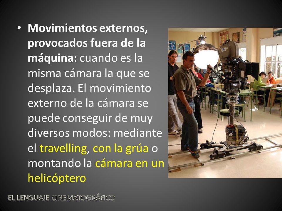 Movimientos externos, provocados fuera de la máquina: cuando es la misma cámara la que se desplaza.