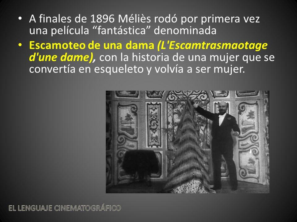 A finales de 1896 Méliès rodó por primera vez una película fantástica denominada Escamoteo de una dama (L Escamtrasmaotage d une dame), con la historia de una mujer que se convertía en esqueleto y volvía a ser mujer.