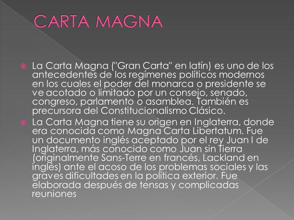 La Carta Magna (