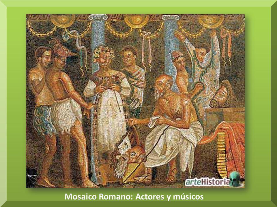 Mosaico Romano: Actores y músicos