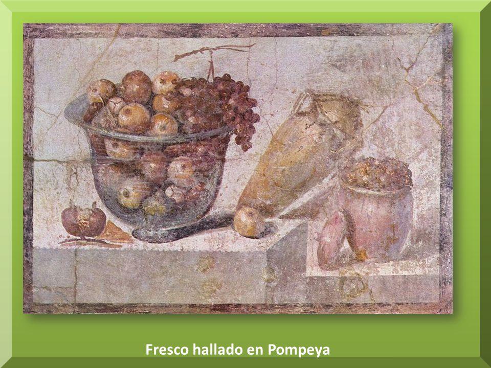 Fresco hallado en Pompeya