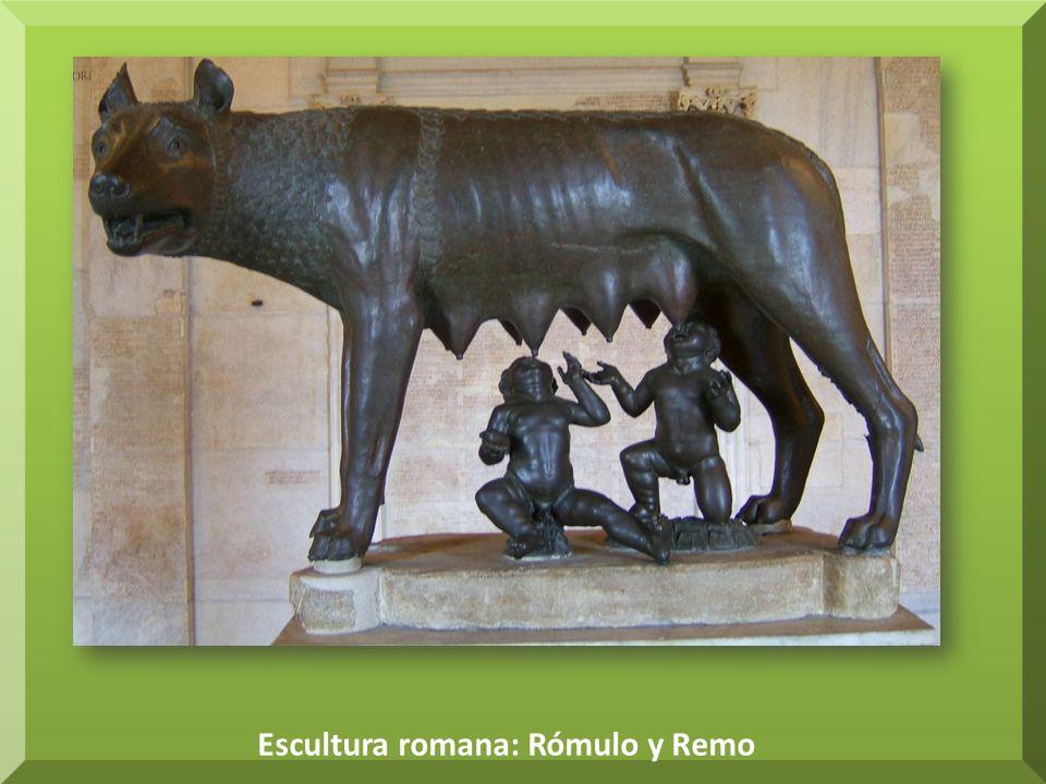 Escultura romana: Rómulo y Remo