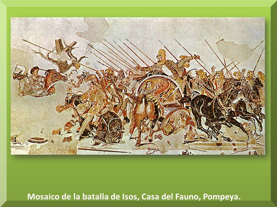 Mosaico de la batalla de Isos, Casa del Fauno, Pompeya.