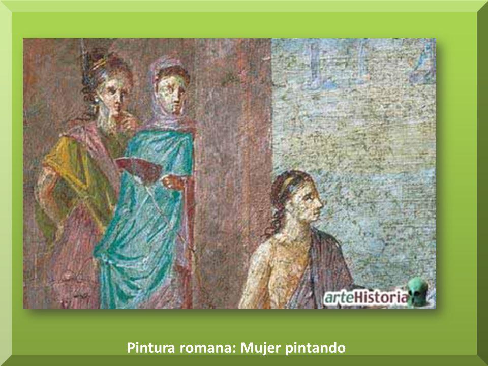 Pintura romana: Mujer pintando