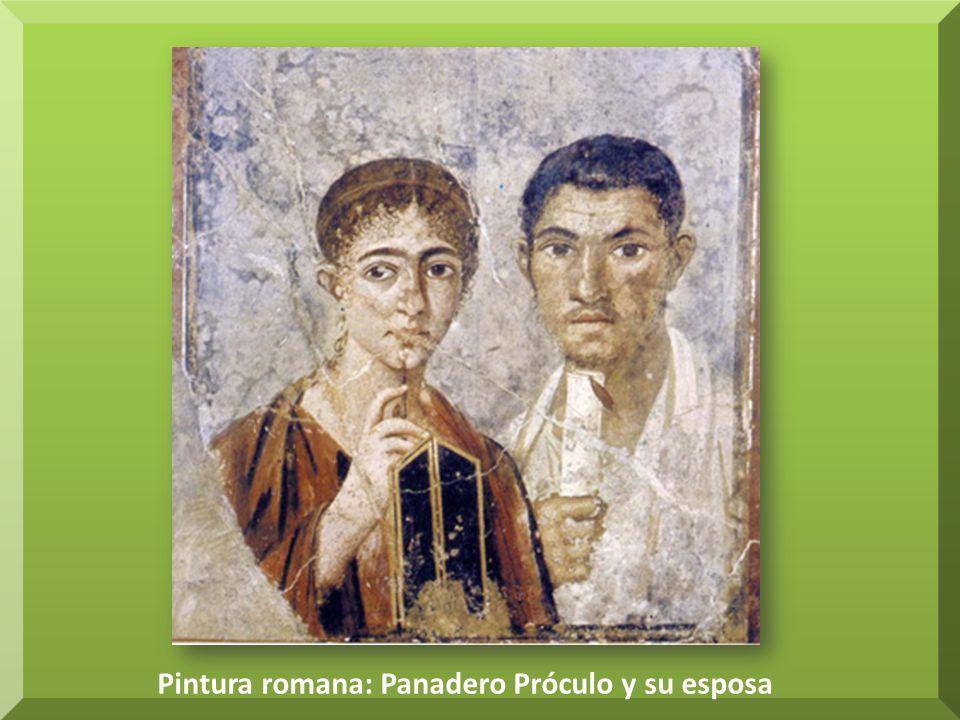Pintura romana: Panadero Próculo y su esposa