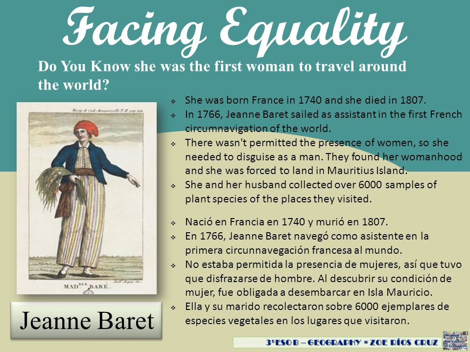 Facing Equality Do You Know that she covered over 800 miles in the Rocky Mountains.