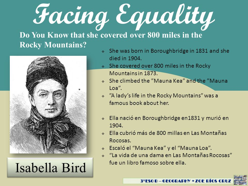 Facing Equality Do You Know she created the ocean floor map.