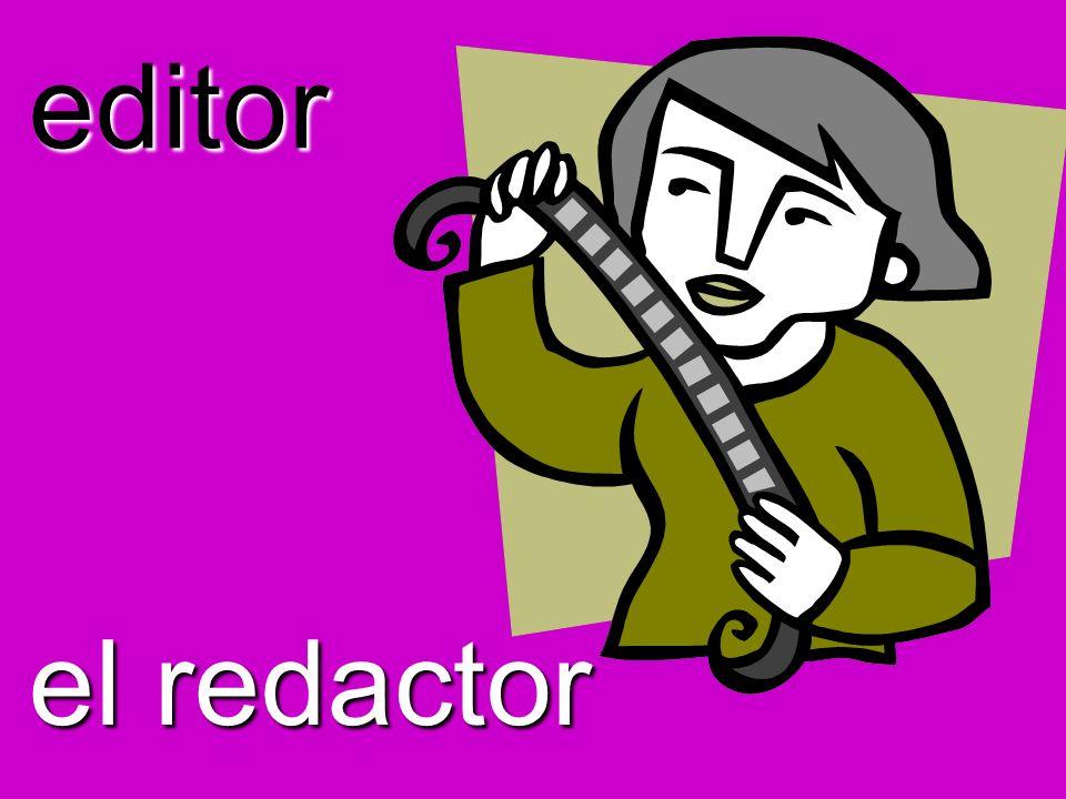 editor el redactor