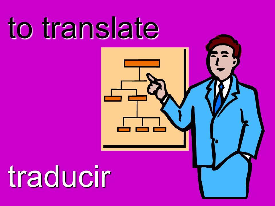 to translate traducir