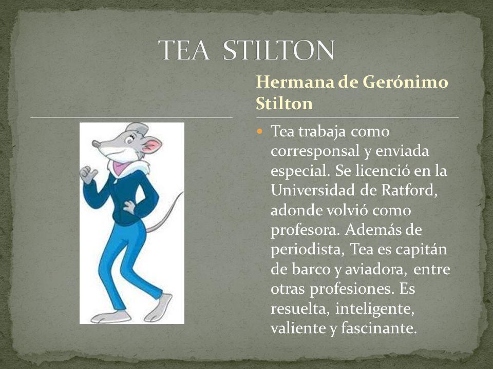 Tea trabaja como corresponsal y enviada especial. Se licenció en la Universidad de Ratford, adonde volvió como profesora. Además de periodista, Tea es