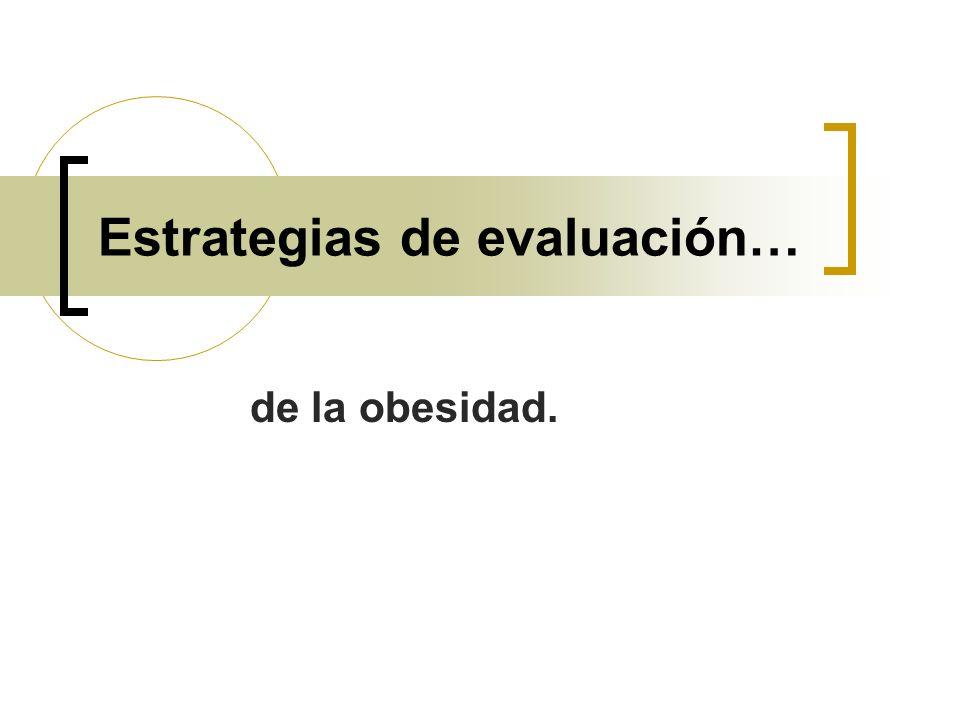 Estrategias de evaluación… de la obesidad.