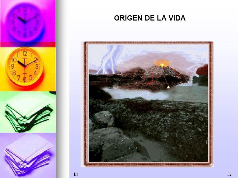 lis12 ORIGEN DE LA VIDA
