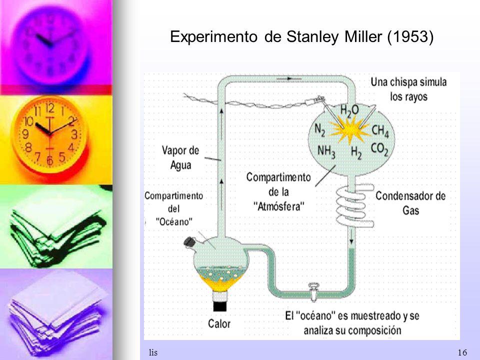 lis16 Experimento de Stanley Miller (1953)