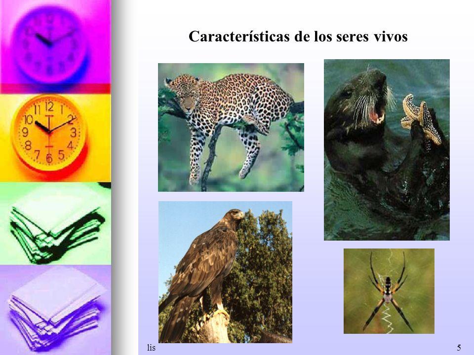 lis5 Características de los seres vivos