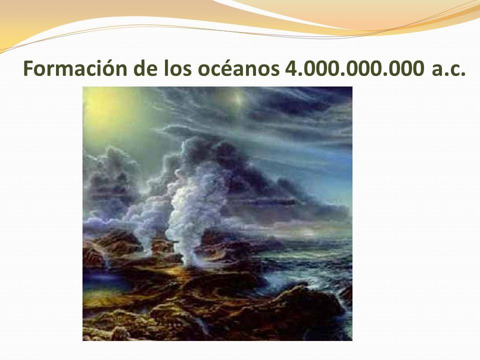 Formación de los océanos 4.000.000.000 a.c.