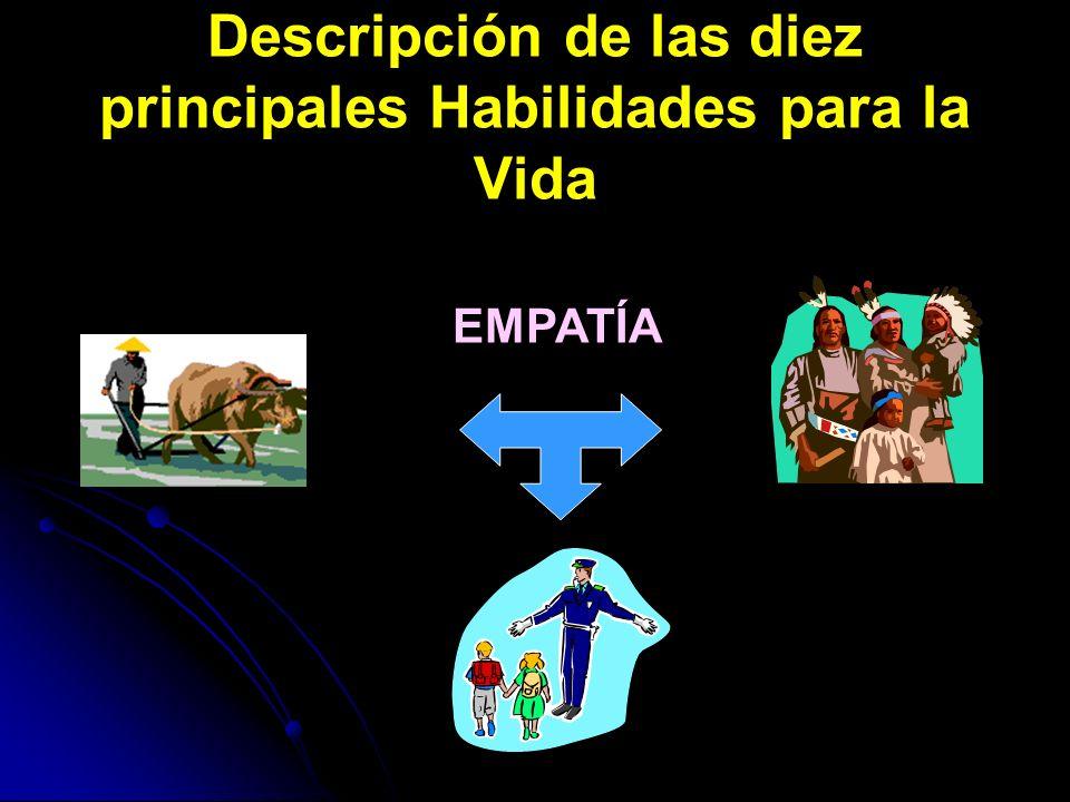 Descripción de las diez principales Habilidades para la Vida EMPATÍA