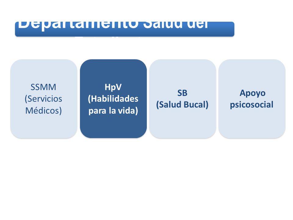 HPV 1 HPV 2 Promoción Derivación a atención HpV (Habilidades para la Vida) HpV (Habilidades para la Vida) Prevención