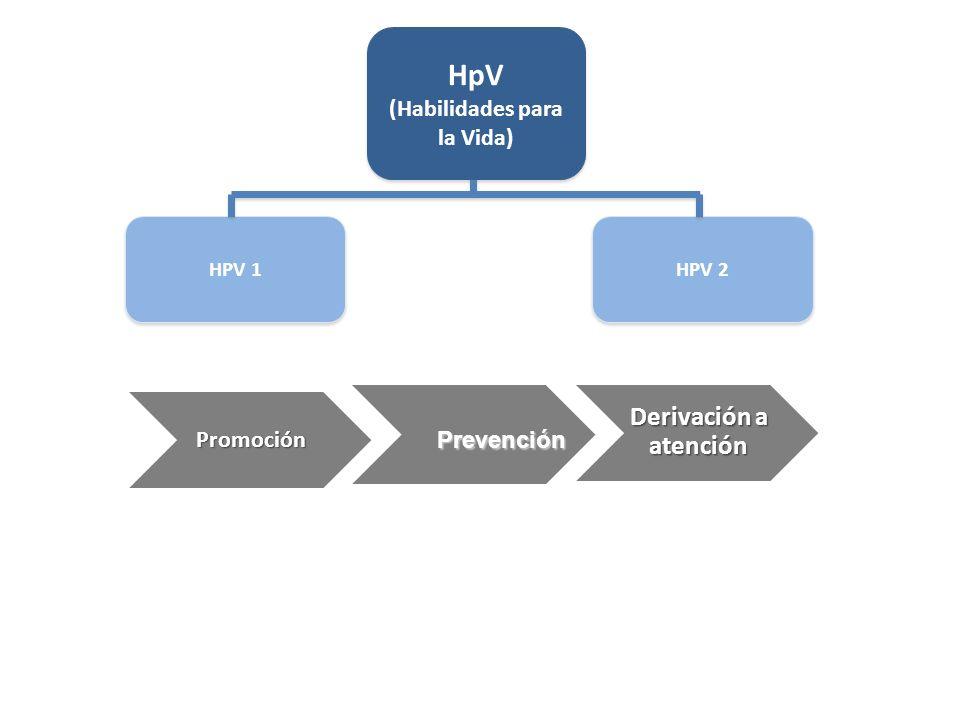 Estrategia de intervención del Programa Centrada en la escuela HpV 1 HpV 1 para niñas y niños de pre kinder a 3º Básico HpV 2 HpV 2 adolescentes de 5º a 8º básico sus padres, educadoras, profesores y directivos.