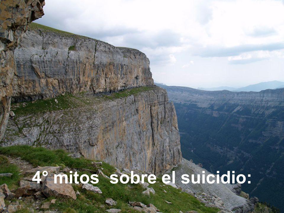 4° mitos sobre el suicidio: