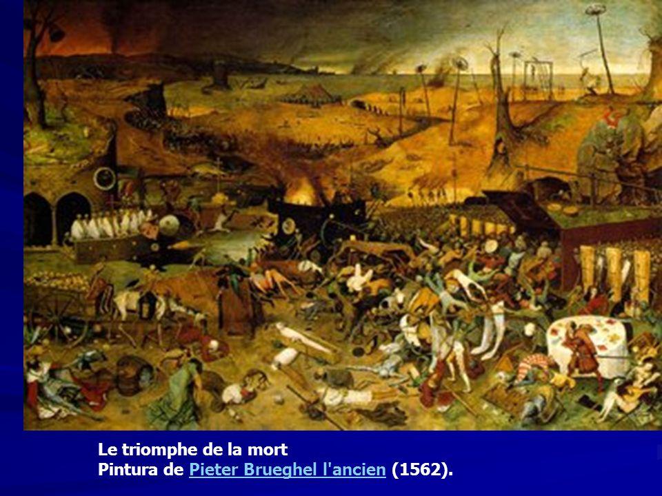 Le triomphe de la mort Pintura de Pieter Brueghel l'ancien (1562).Pieter Brueghel l'ancien