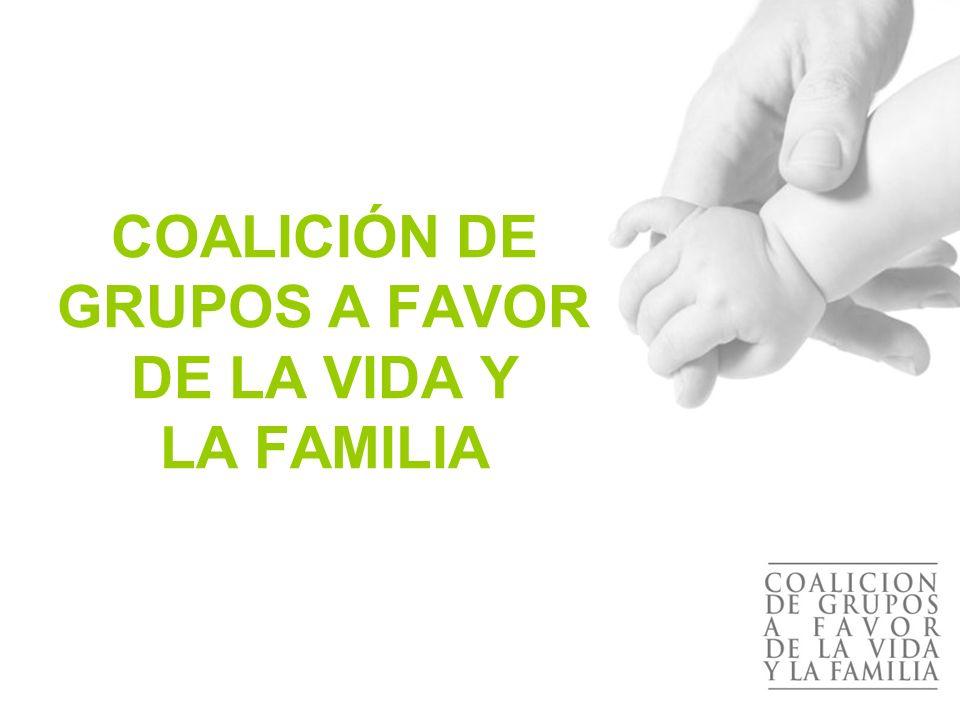 ¿Cuándo surge la Coalición de Grupos a Favor de la Vida y la Familia.