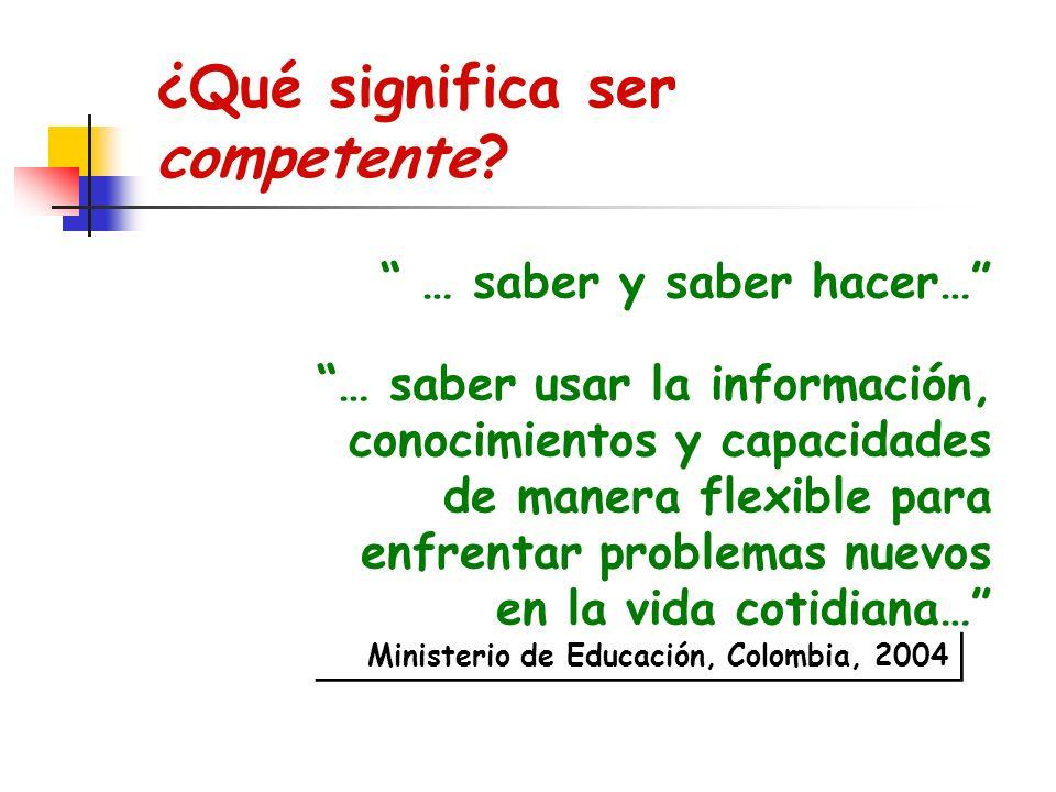 ¿Qué significa ser competente.