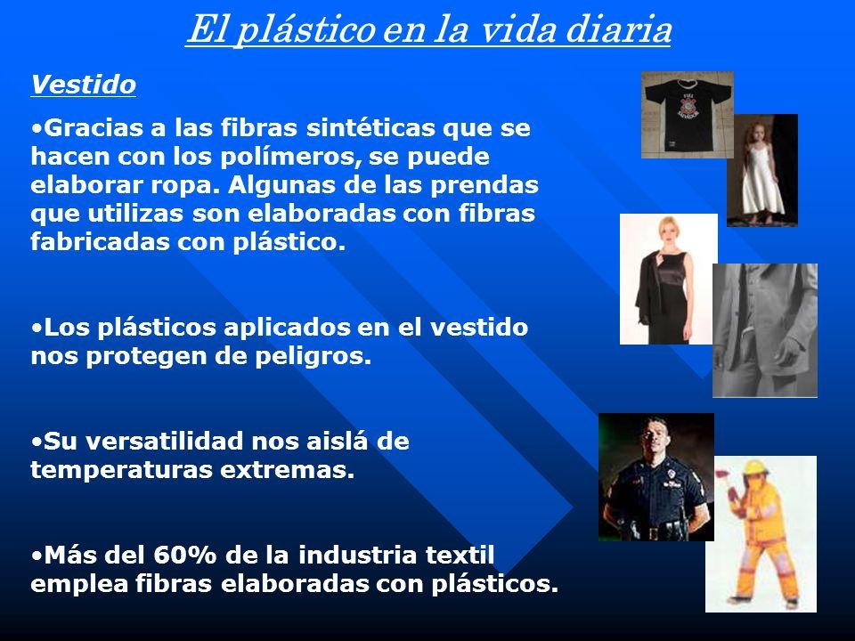 Vestido Gracias a las fibras sintéticas que se hacen con los polímeros, se puede elaborar ropa. Algunas de las prendas que utilizas son elaboradas con