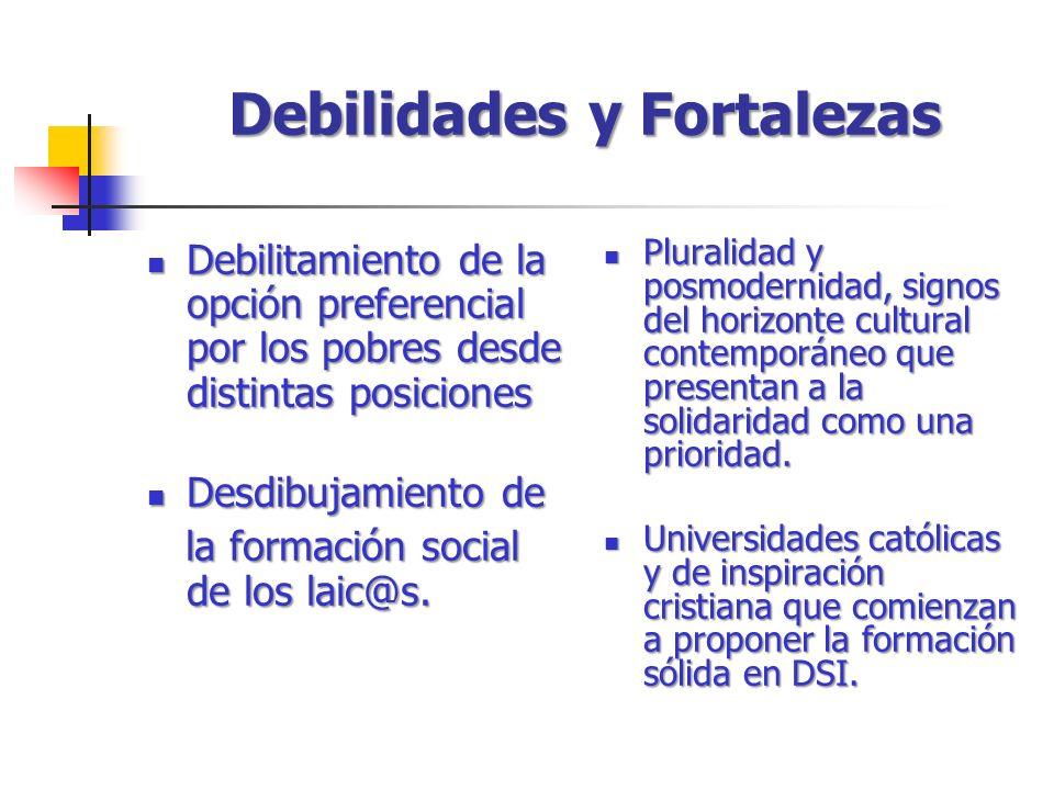 Debilitamiento de la opción preferencial por los pobres desde distintas posiciones Debilitamiento de la opción preferencial por los pobres desde distintas posiciones Desdibujamiento de Desdibujamiento de la formación social de los laic@s.