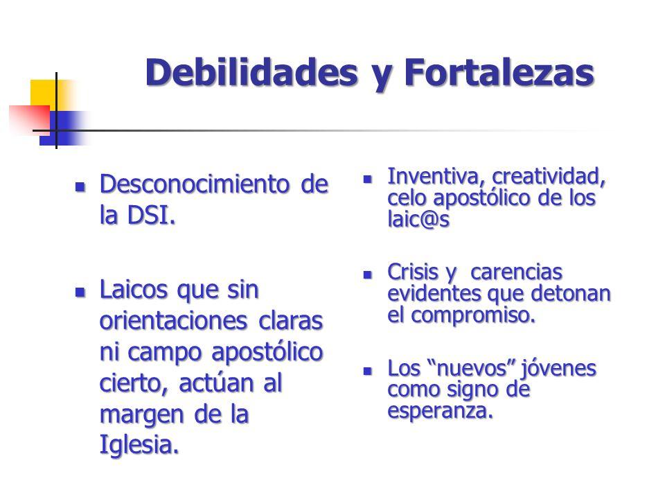 Desconocimiento de la DSI. Desconocimiento de la DSI. Laicos que sin orientaciones claras ni campo apostólico cierto, actúan al margen de la Iglesia.