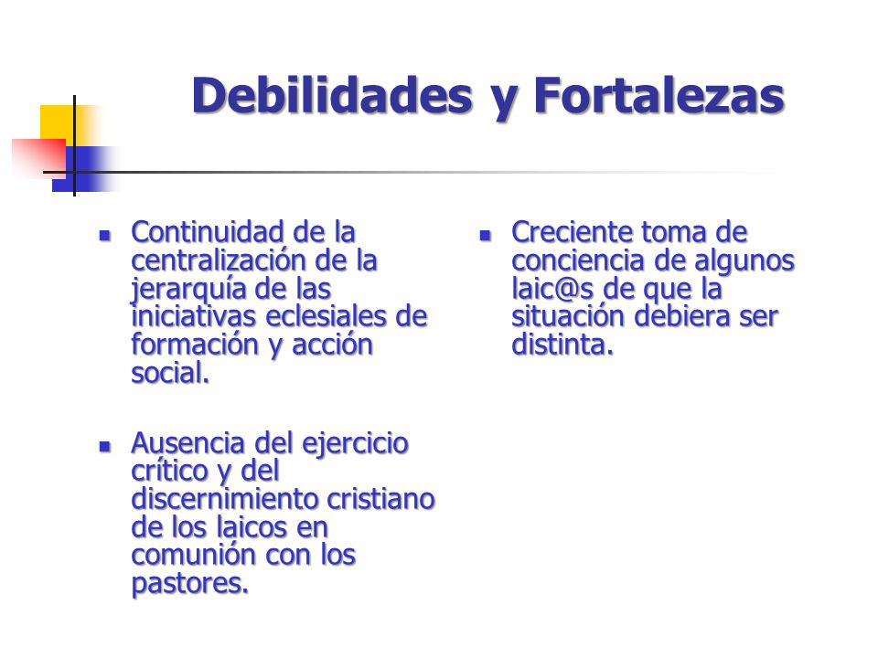 Continuidad de la centralización de la jerarquía de las iniciativas eclesiales de formación y acción social.