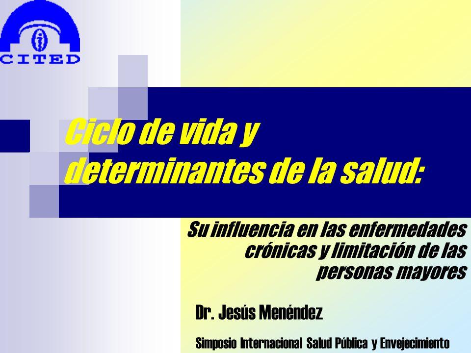 Ciclo de vida y determinantes de la salud: Su influencia en las enfermedades crónicas y limitación de las personas mayores Dr. Jesús Menéndez Simposio