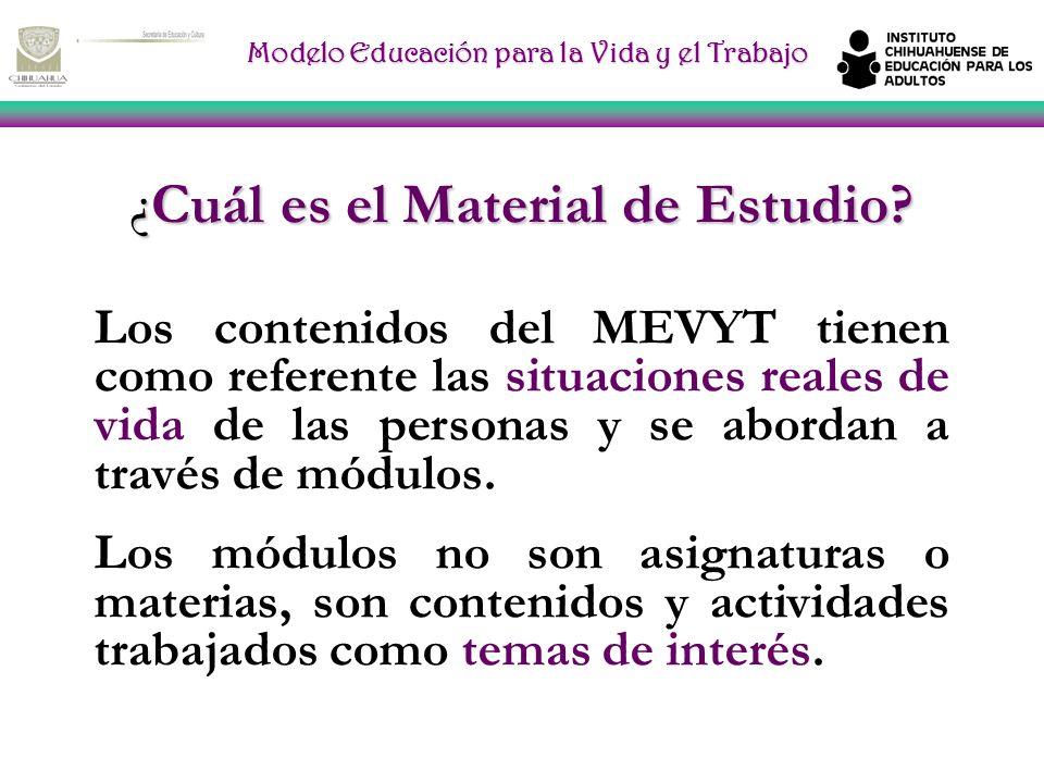 Modelo Educación para la Vida y el Trabajo CARACTERÍSTICAS El MEVyT tiene cuatro características principales: *Es modular *Es flexible y abierto * Es
