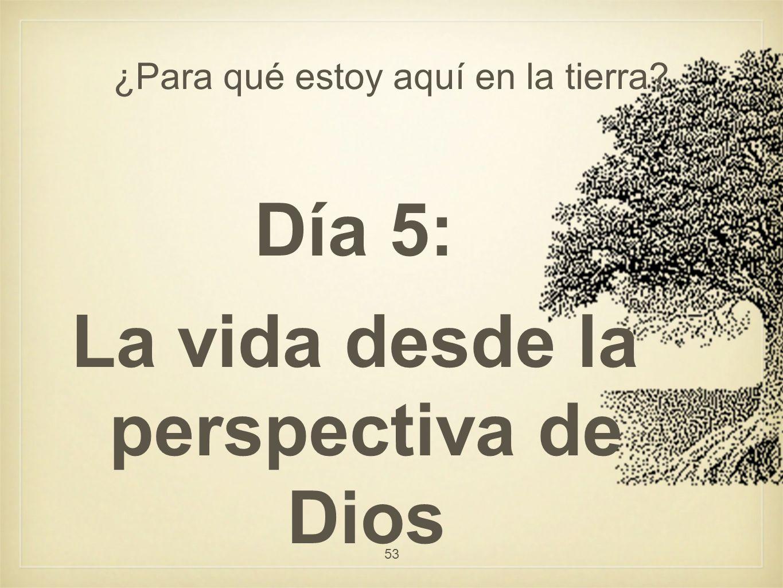 ¿Para qué estoy aquí en la tierra? Día 5: La vida desde la perspectiva de Dios 53