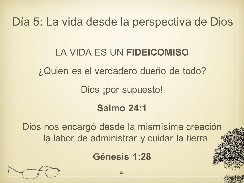 LA VIDA ES UN FIDEICOMISO ¿Quien es el verdadero dueño de todo? Dios ¡por supuesto! Salmo 24:1 Dios nos encargó desde la mismísima creación la labor d