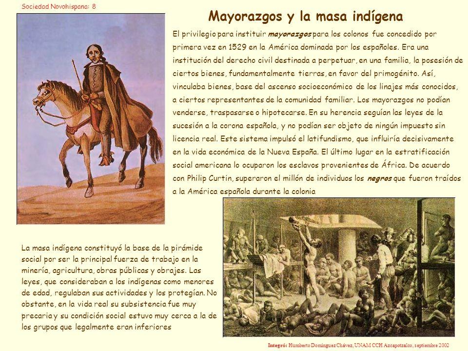 El privilegio para instituir mayorazgos para los colonos fue concedido por primera vez en 1529 en la América dominada por los españoles. Era una insti