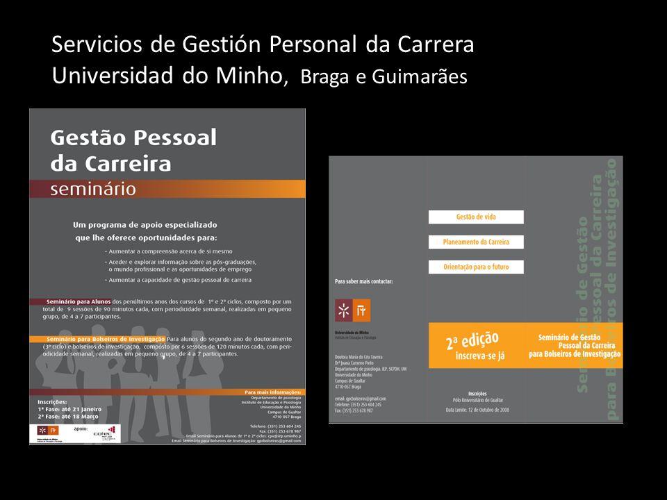 Servicios de Gestión Personal da Carrera Universidad do Minho, Braga e Guimarães