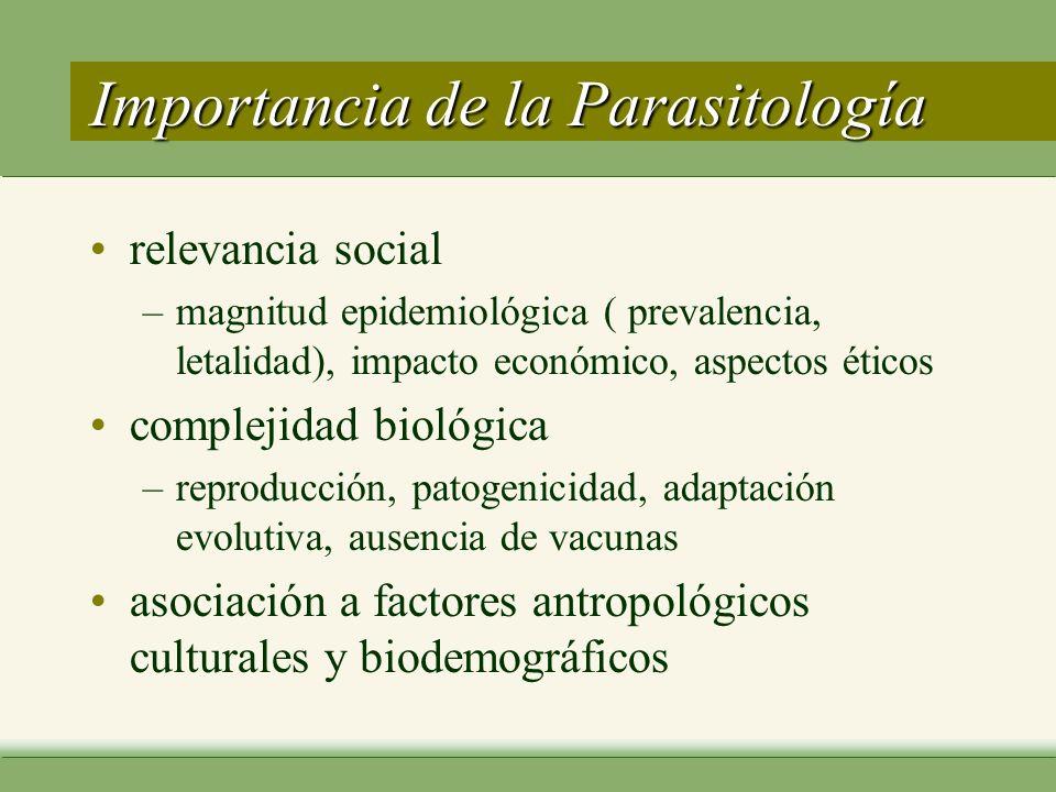 Factores Asociados a las Parasitosis Factores Asociados a las Parasitosis Socio antropológicos –Desarrollo de los pueblos : Calidad de vida : salud, alimentación, educación, vivienda, seguridad social.