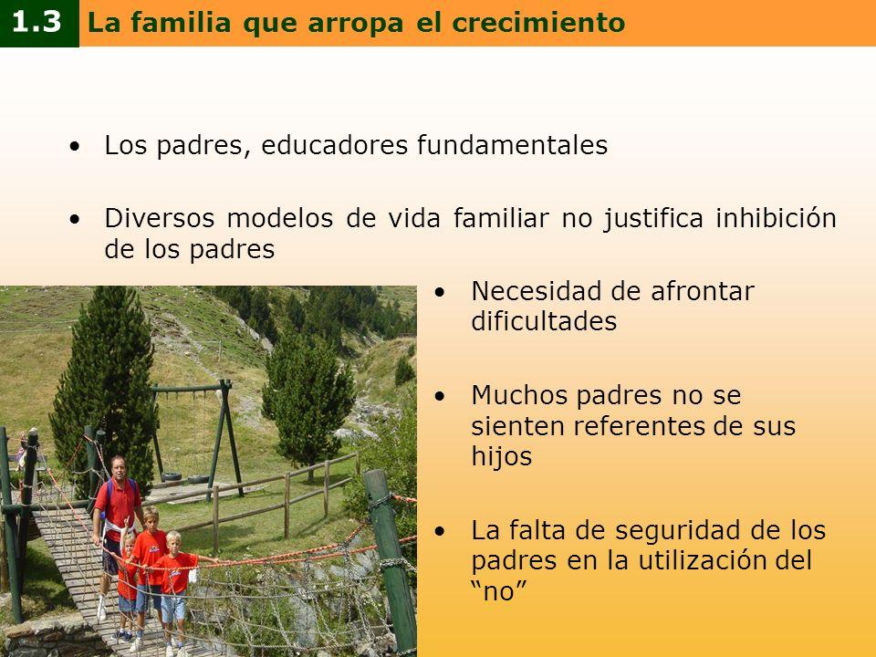 Los padres, educadores fundamentales Diversos modelos de vida familiar no justifica inhibición de los padres Necesidad de afrontar dificultades Muchos