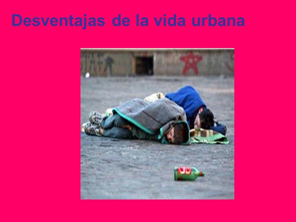 Desventajas de la vida urbana