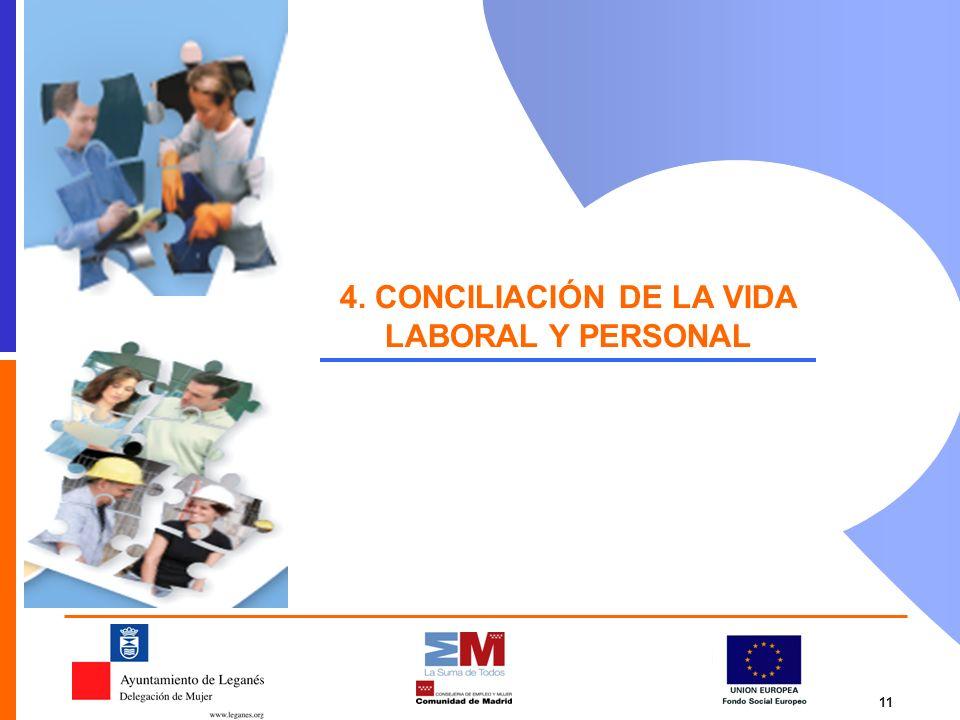 11 4. CONCILIACIÓN DE LA VIDA LABORAL Y PERSONAL