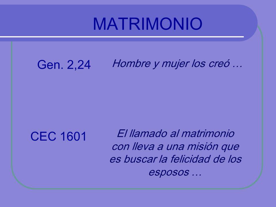 MATRIMONIO Gen.