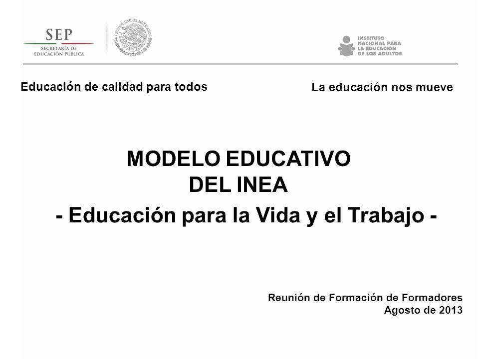CARACTERÍSTICA DEL INEA Evolución e innovación de modelos educativos Centrados en las personas jóvenes y adultas en situación de rezago educativo Flexibles Con posibilidades de acreditación de aprendizajes