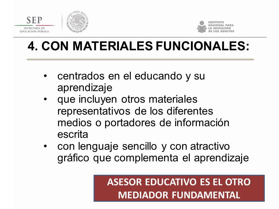 centrados en el educando y su aprendizaje que incluyen otros materiales representativos de los diferentes medios o portadores de información escrita c