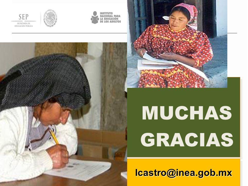MUCHAS GRACIAS lcastro@inea.gob.mxlcastro@inea.gob.mx
