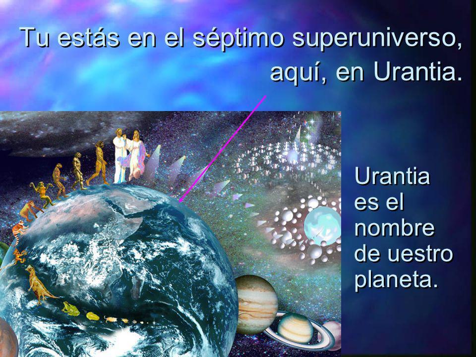 Siete Superuniversos rodean el universo central y eterno