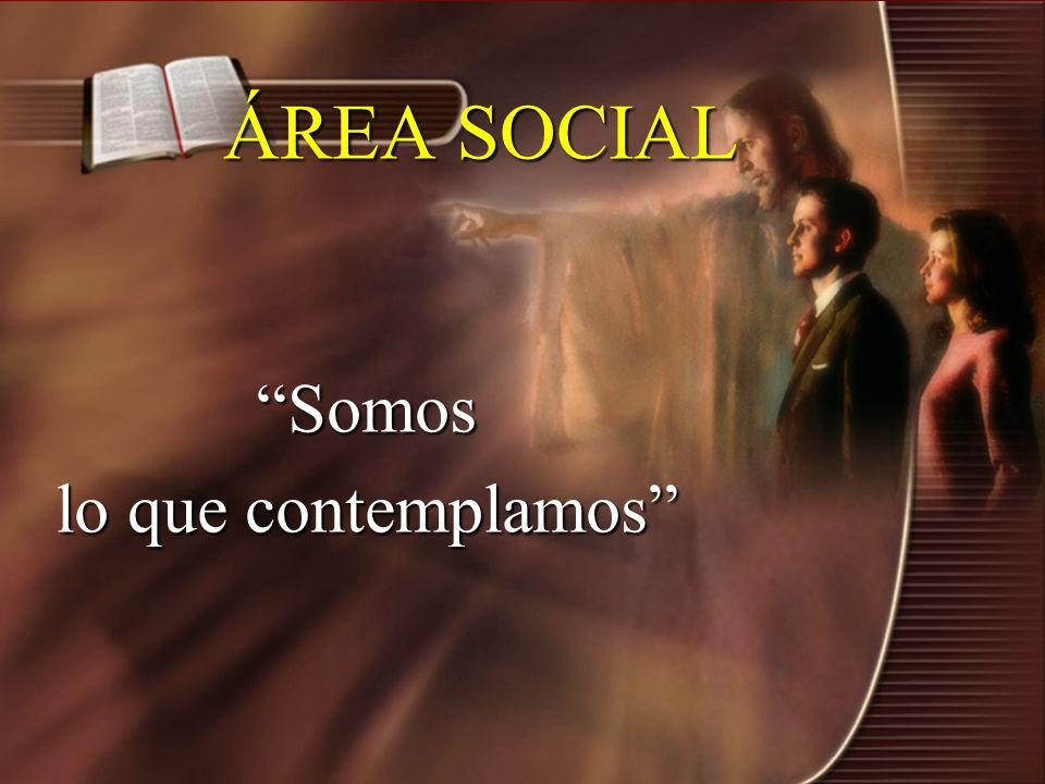 ÁREA SOCIAL Somos lo que contemplamos